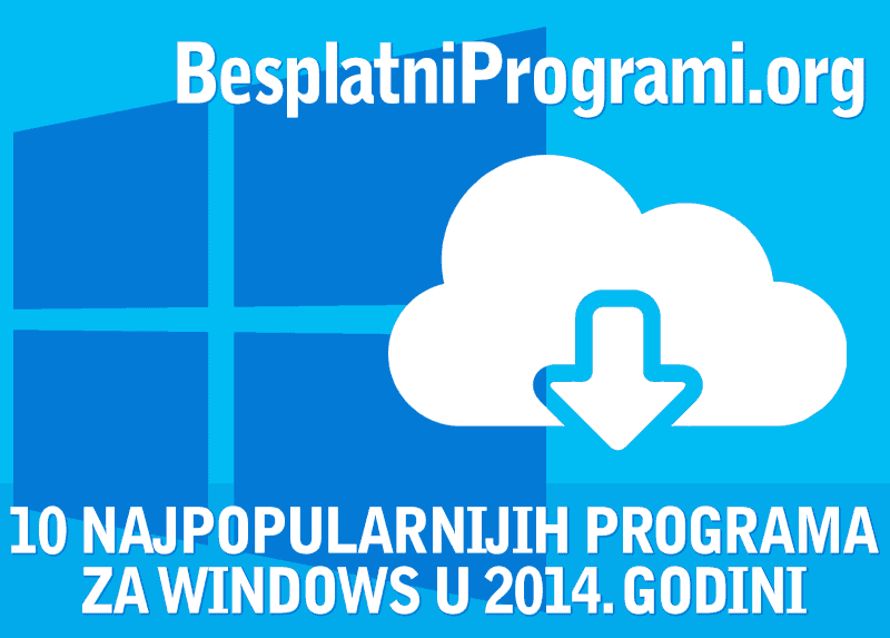 10 najpopularnijih besplatnih programa u 2014. godini