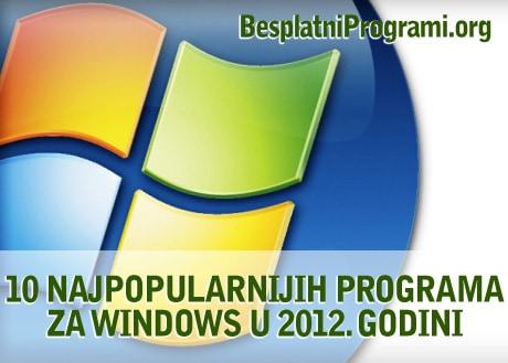10 najpopularnijih besplatnih programa u 2012. godini
