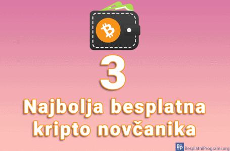 3 najbolja besplatna kripto novčanika