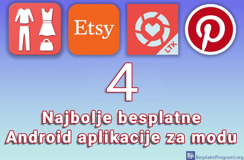 4 najbolje besplatne Android aplikacije za modu