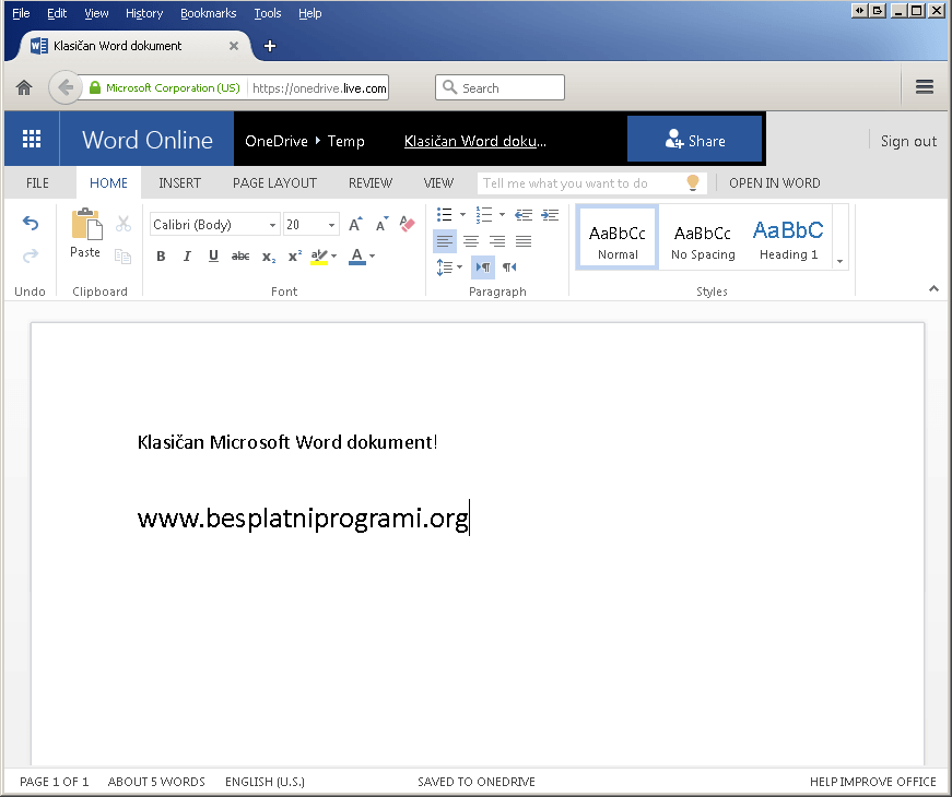Besplatan Microsoft Office Word