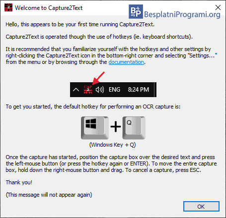 Capture2Text poruka developera