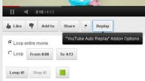 YouTube Auto Replay dugme u Firefox-u
