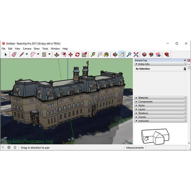 Google SketchUp Rad u Programu