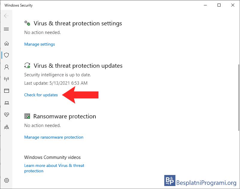 Kako ažurirati Windows Defender