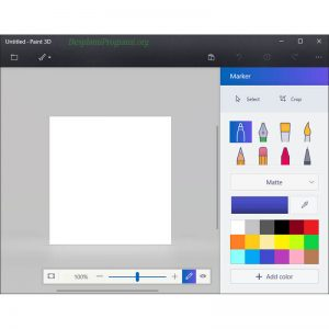 Paint 3D Prikaz Programa