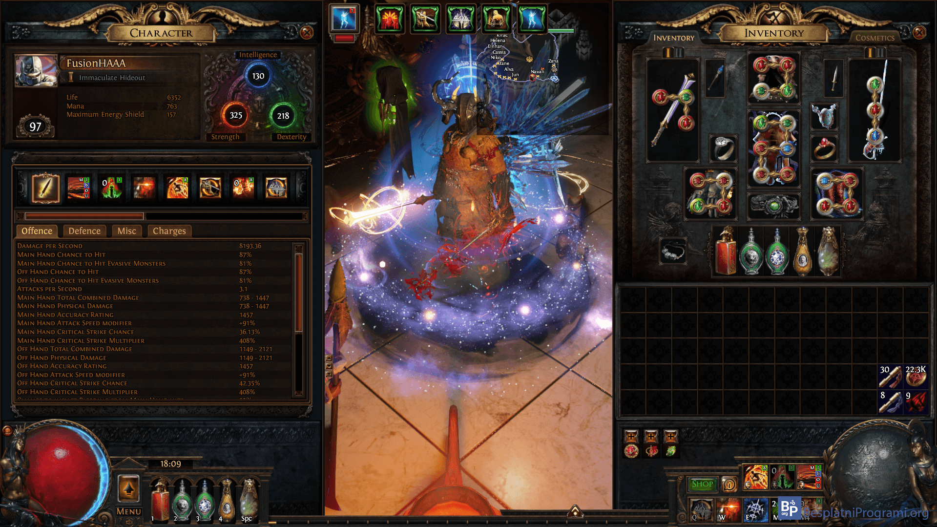 Path of Exile inventar