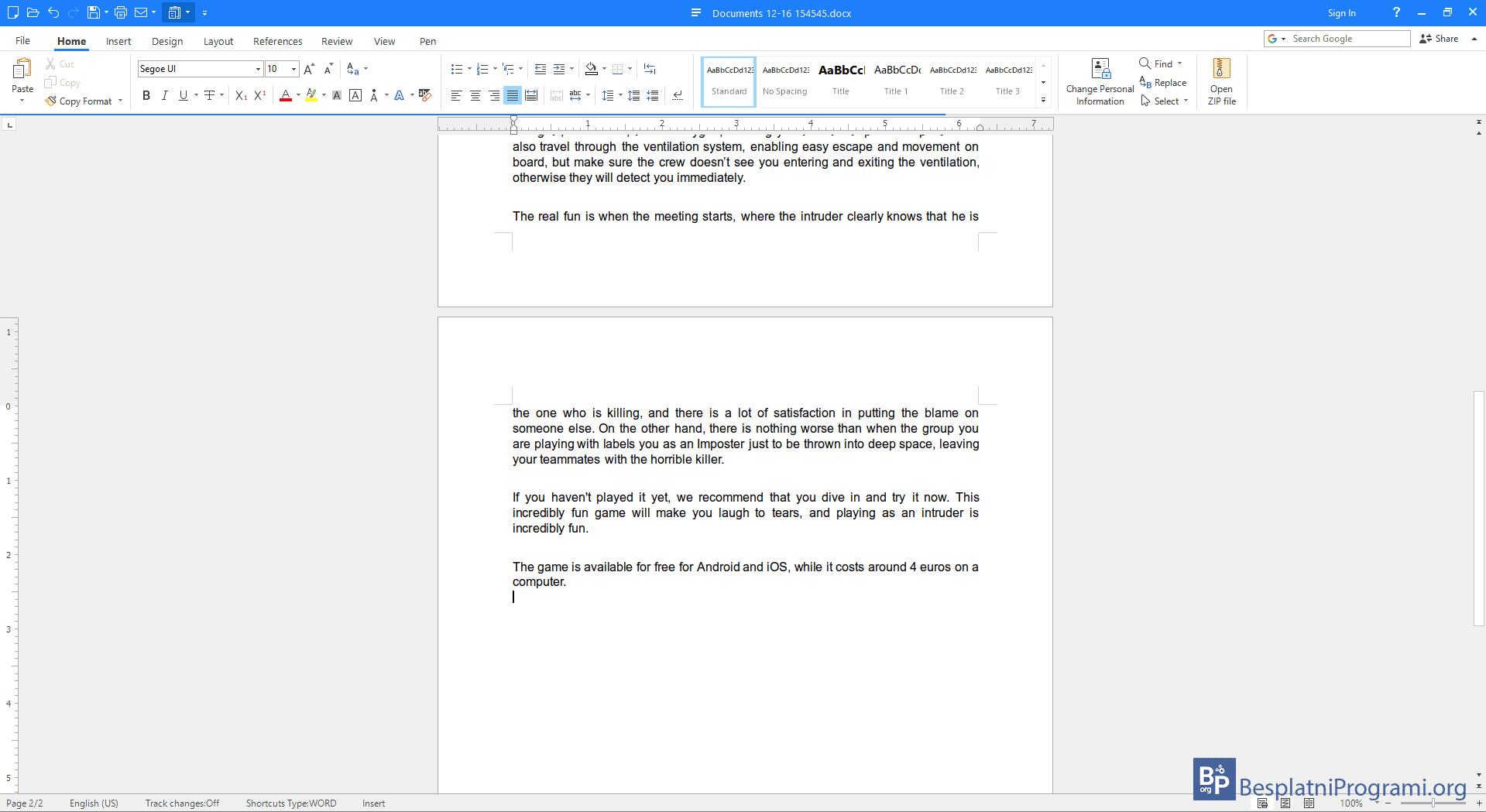 Polaris Office tekstualni dokument