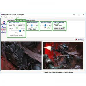 Reshade Image Resizer drugi deo uputva za korisnicki interfejs