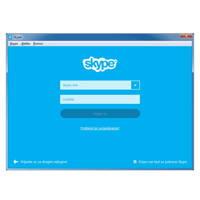 Razgovor sa korisnicima koji nemaju Skype nalog