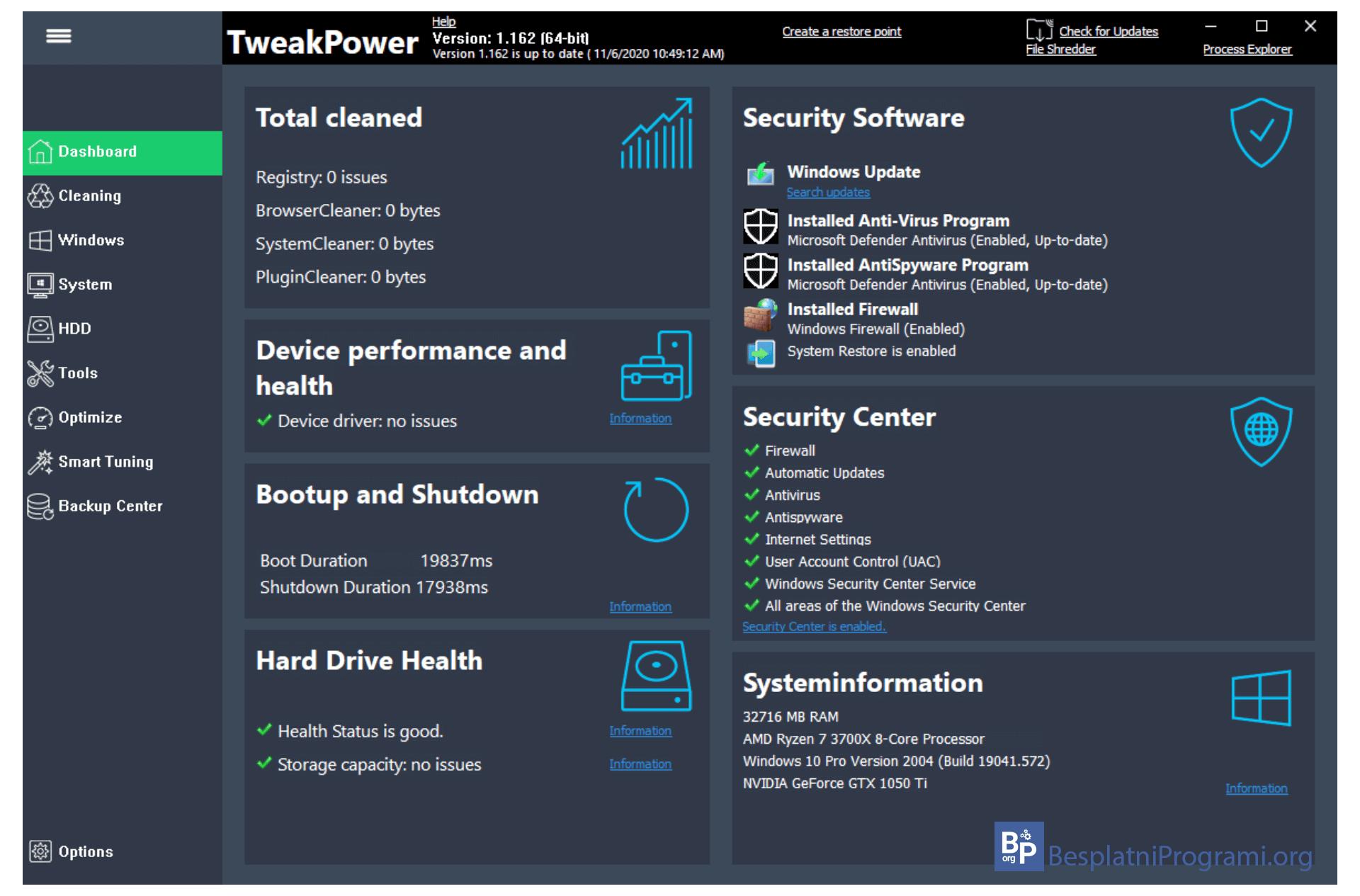 TweekPower Dashboard