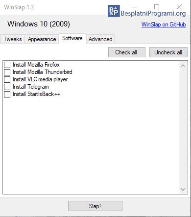 WinSlap Software