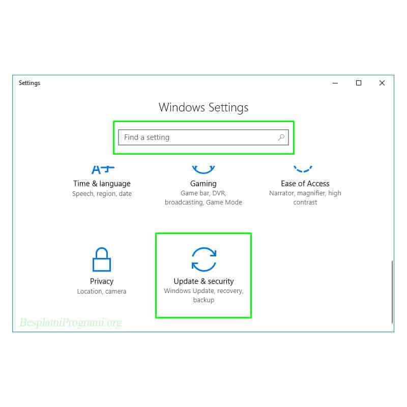 Windows 10 prikaz putanje do opcija