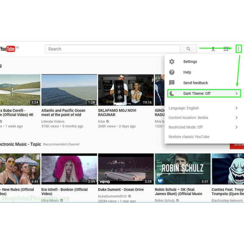 Youtube prikaz novog sajta
