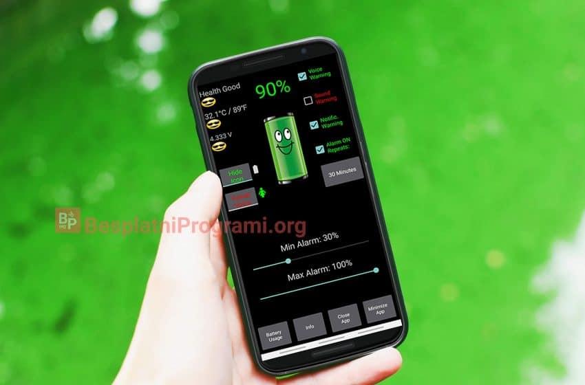 Battery Alarm aplikacija za upozorenja za punu ili praznu bateriju na Android-u
