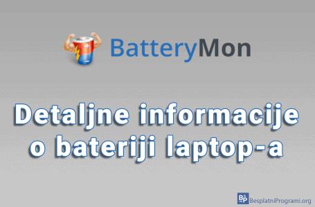 BatteryMon – detaljne informacije o bateriji laptop-a