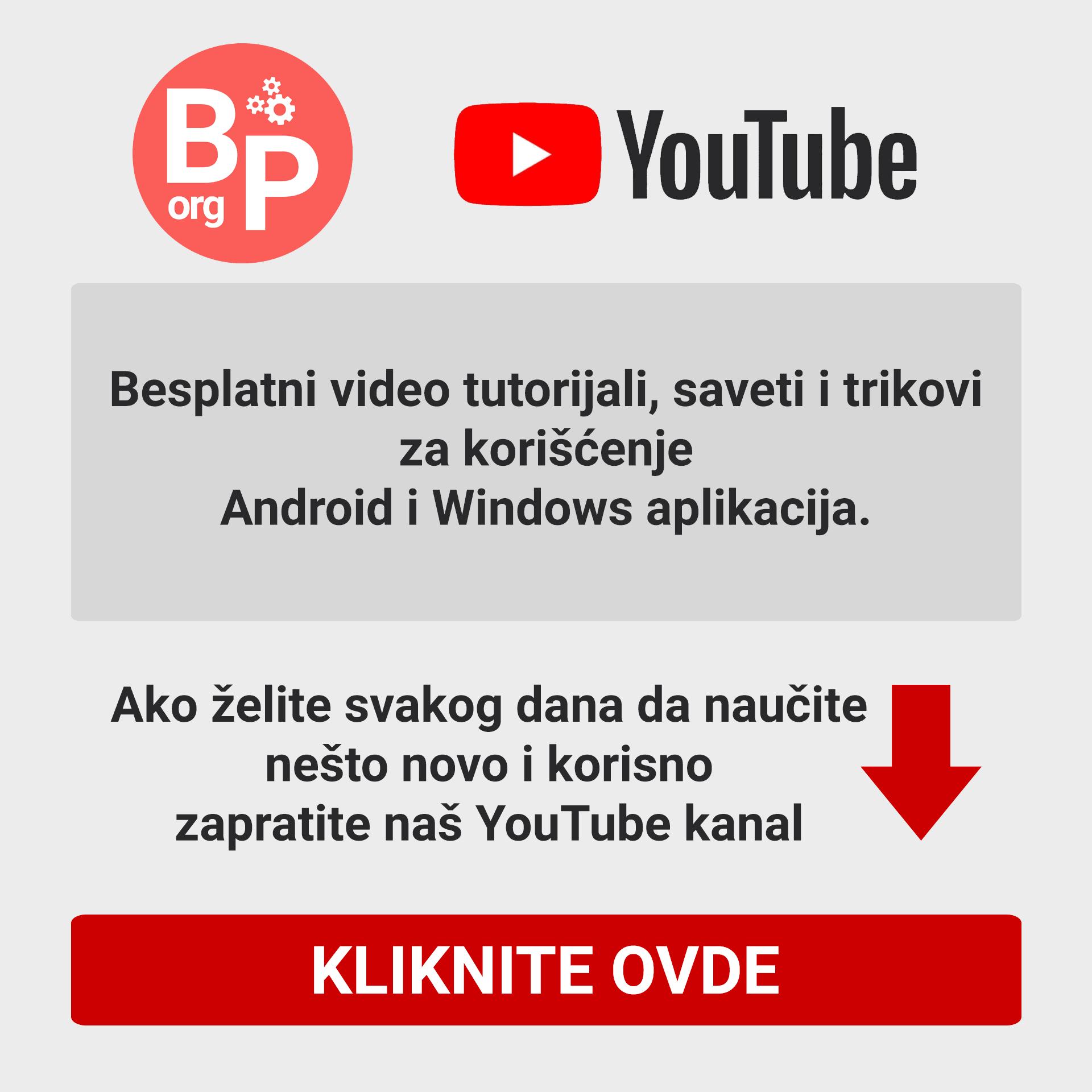 Besplatni programi YouTube