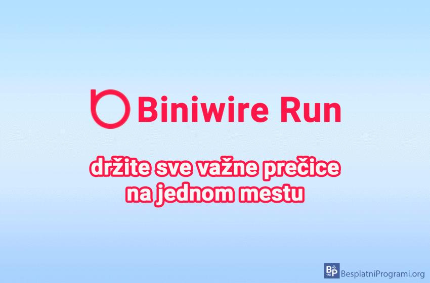 Biniware Run – držite sve važne prečice na jednom mestu