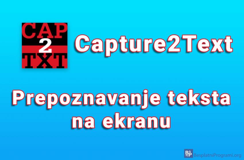Capture2Text – prepoznavanje teksta na ekranu