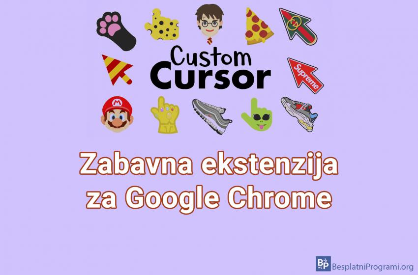 Custom Cursor – zabavna ekstenzija za Google Chrome