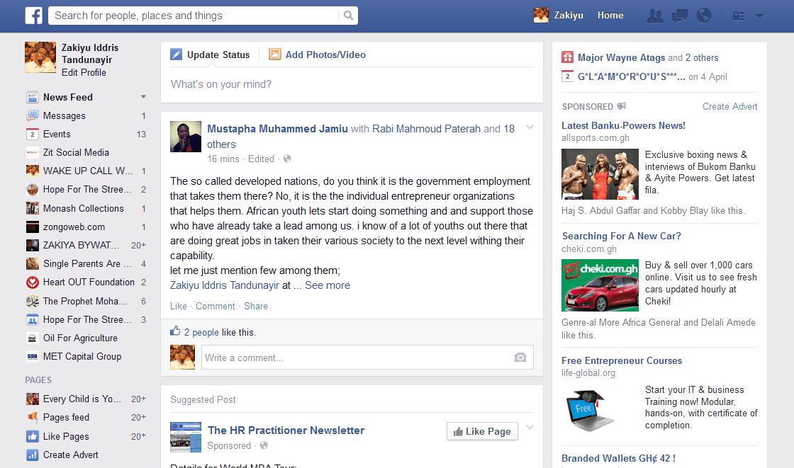 Facebook – prikazivanje najnovijih informacija na naslovnoj