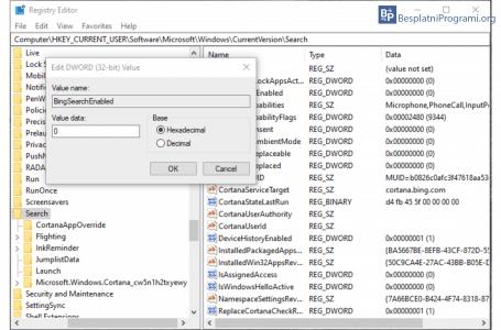 Kako deaktivirati Bing pretragu u Windows 10