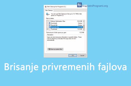 Kako obrisati privremene fajlove na Windows-u 10