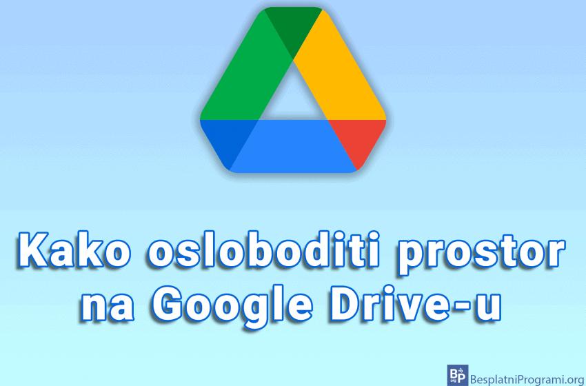 Kako osloboditi prostor na Google Drive-u