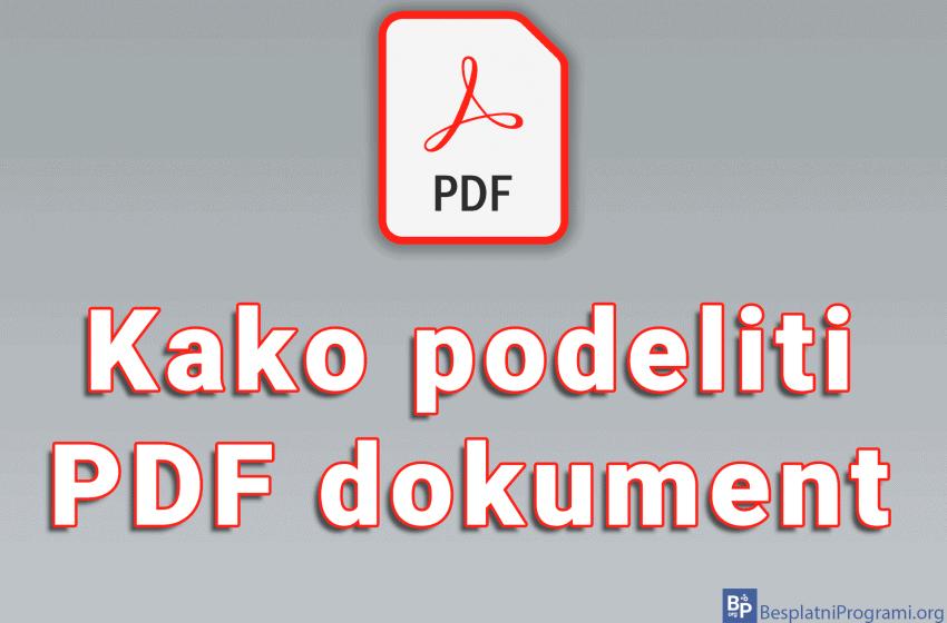 Kako podeliti PDF dokument