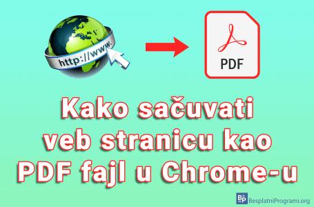 Kako sačuvati veb stranicu kao PDF fajl u Chrome-u
