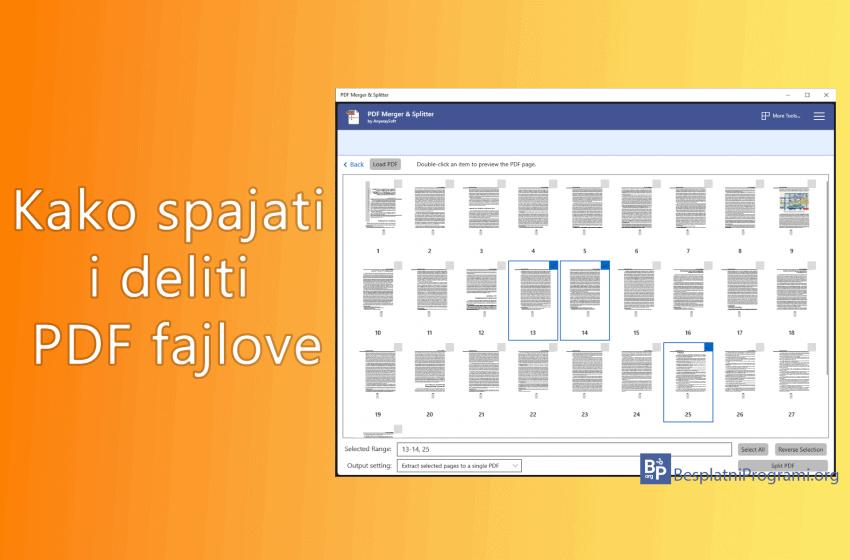 Kako spajati i deliti PDF fajlove uz pomoć PDF Merger & Splitter u Windows-u 10