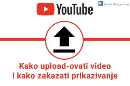 Kako upload-ovati video na YouTube i kako zakazati prikazivanje