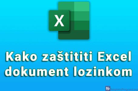 Kako zaštititi Excel dokument lozinkom