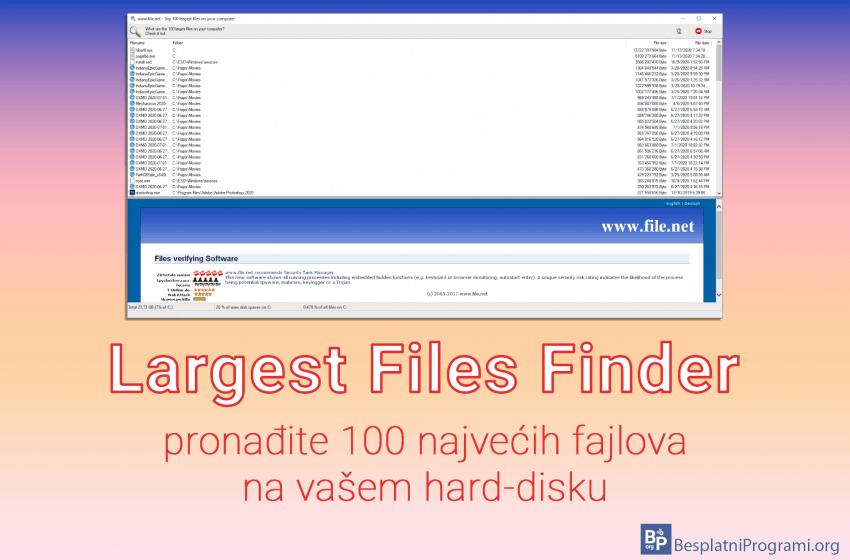 Largest Files Finder