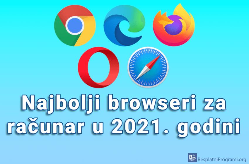 Najbolji browseri za računar u 2021. godini