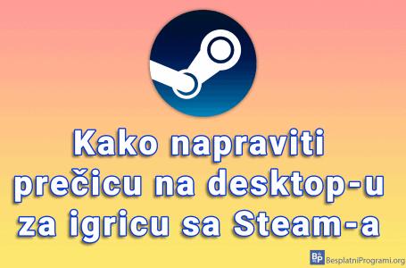 Kako napraviti prečicu na desktop-u za igricu sa Steam-a