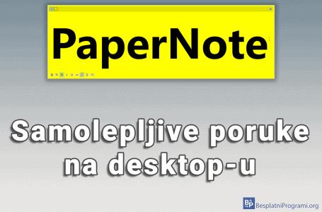 PeperNote – samolepljive poruke na desktop-u
