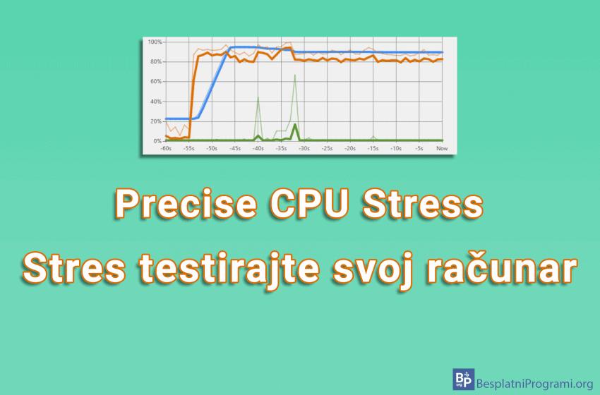 Precise CPU Stress – stres testirajte svoj računar
