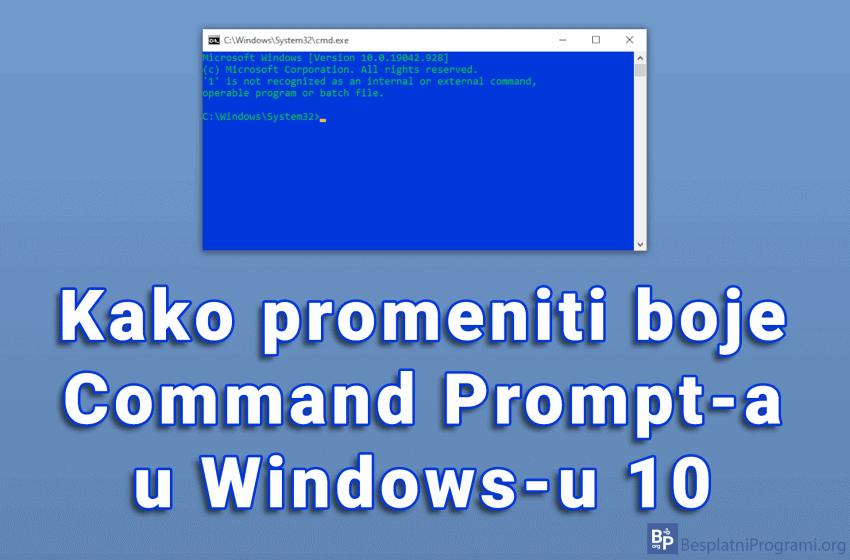 Kako promeniti boje Command Prompt-a u Windows-u 10