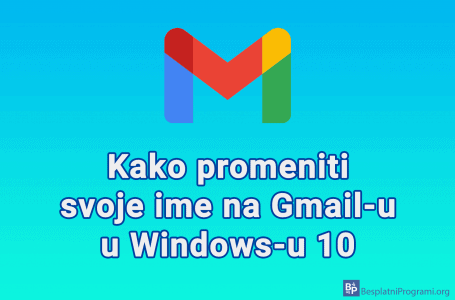 Kako promeniti svoje ime na Gmail-u u Windows-u 10