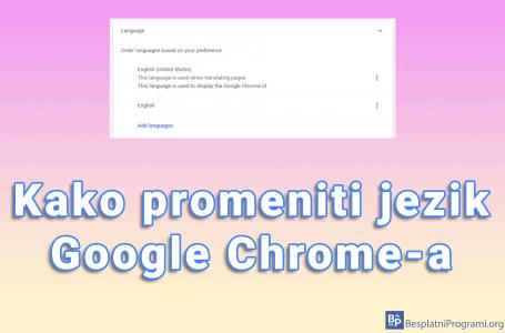 Kako promeniti jezik Google Chrome-a