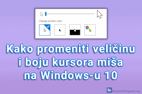Kako promeniti veličinu i boju kursora miša na Windows-u 10