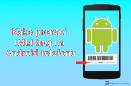 Kako pronaći IMEI broj na Android telefonu