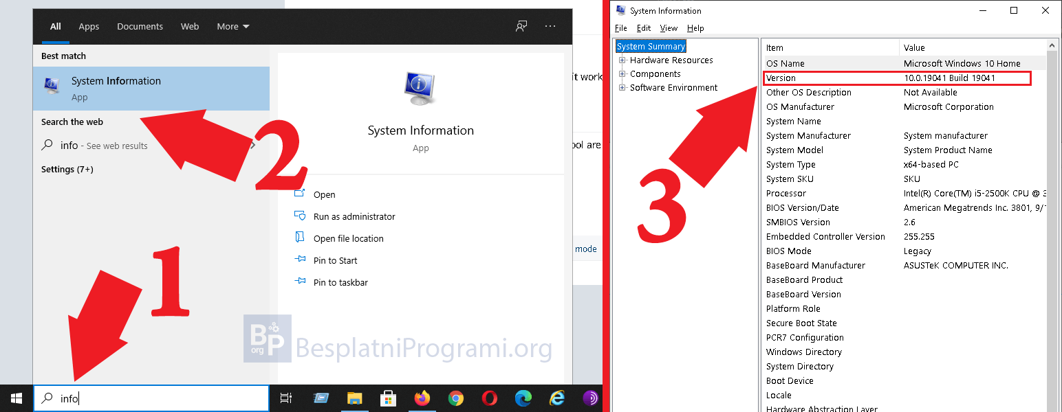 Proverite Windows 10 verziju