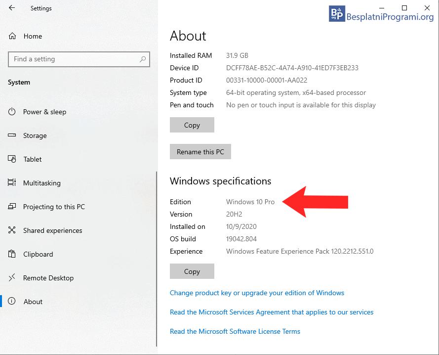verzija Windowsa
