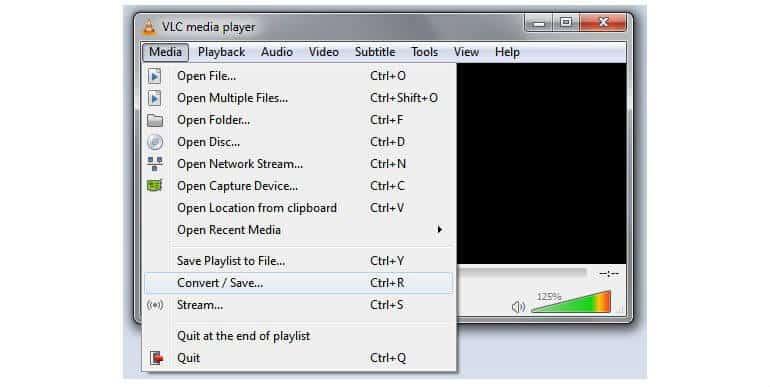 VLC konverovanje korak 1