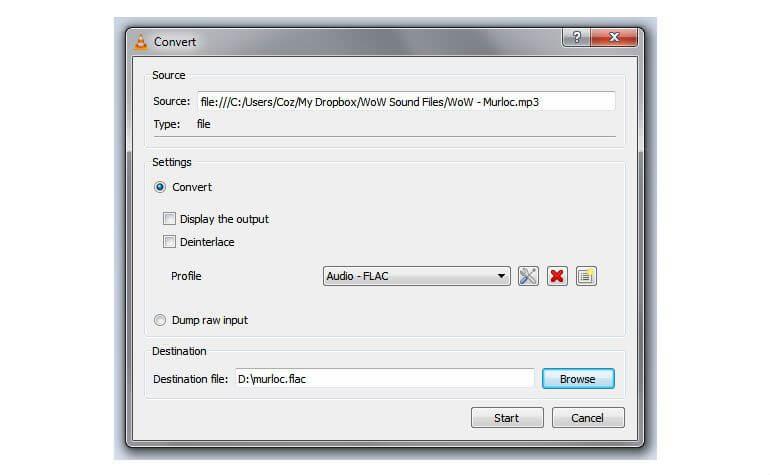 VLC konverovanje korak 2