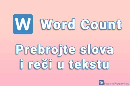 Word Count – prebrojte slova i reči u tekstu