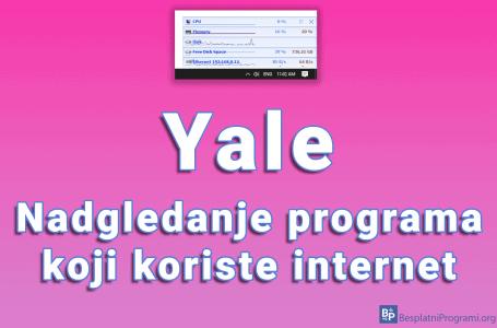 Yale – nadgledanje programa koji koriste internet