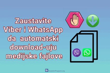 Zaustavite Viber i WhatsApp na Androidu da automatski download-uju medijske fajlove